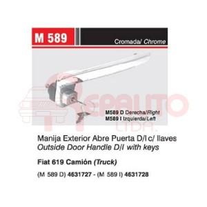 MANIJA EXTERIOR PUERTA FIAT 619 C/ LLAVE DER.